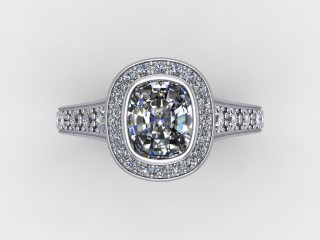 Certificated Cushion-Cut Diamond in Platinum - 9