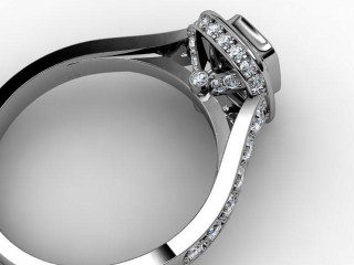 Certificated Cushion-Cut Diamond in Platinum - 15