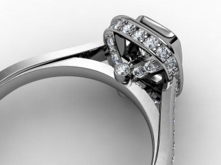Certificated Cushion-Cut Diamond in Platinum - 12