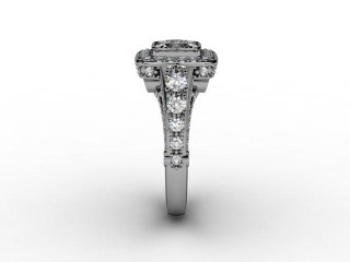 Certificated Cushion-Cut Diamond in Platinum - 6