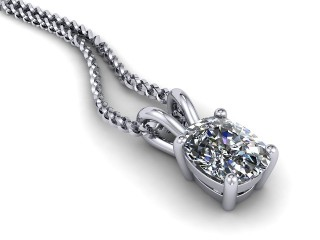 Certified Cushion-Cut Diamond Pendant -05-01911