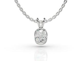 Certified Cushion-Cut Diamond Pendant -05-01912