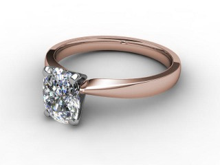Certificated Cushion-Cut Diamond Solitaire Engagement Ring in 18ct. Rose Gold-05-0400-0001