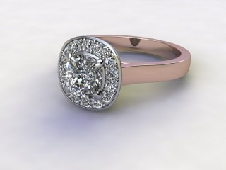 Certificated Cushion-Cut Diamond in 18ct. Rose Gold-05-0400-8913