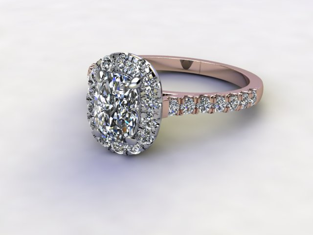 Certificated Cushion-Cut Diamond in 18ct. Rose Gold - Main Picture