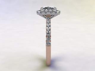 Certificated Cushion-Cut Diamond in 18ct. Rose Gold - 6