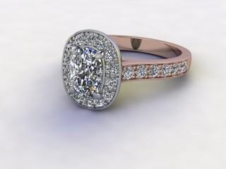 Certificated Cushion-Cut Diamond in 18ct. Rose Gold