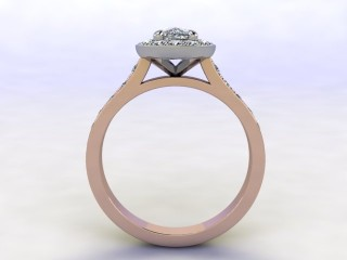 Certificated Cushion-Cut Diamond in 18ct. Rose Gold - 3