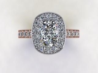 Certificated Cushion-Cut Diamond in 18ct. Rose Gold - 9
