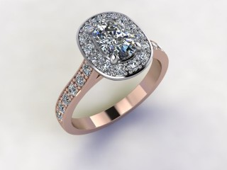 Certificated Cushion-Cut Diamond in 18ct. Rose Gold - 12