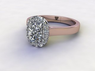 Certificated Cushion-Cut Diamond in 18ct. Rose Gold-05-0400-8942