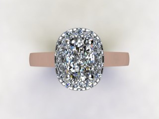 Certificated Cushion-Cut Diamond in 18ct. Rose Gold - 9