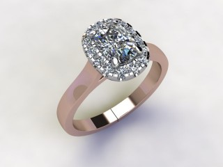 Certificated Cushion-Cut Diamond in 18ct. Rose Gold - 12