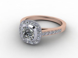 Certificated Cushion-Cut Diamond in 18ct. Rose Gold