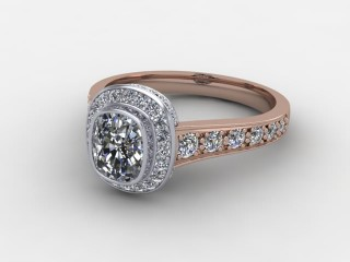 Certificated Cushion-Cut Diamond in 18ct. Rose Gold-05-0457-8000