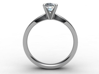 Certificated Cushion-Cut Diamond Solitaire Engagement Ring in 18ct. White Gold - 3