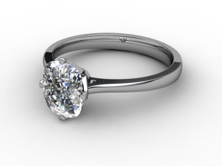Certificated Cushion-Cut Diamond Solitaire Engagement Ring in 18ct. White Gold-05-0500-0003