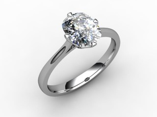 Certificated Cushion-Cut Diamond Solitaire Engagement Ring in 18ct. White Gold - 12