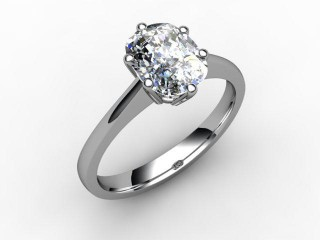 Certificated Cushion-Cut Diamond Solitaire Engagement Ring in 18ct. White Gold-05-0500-0005