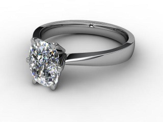 Certificated Cushion-Cut Diamond Solitaire Engagement Ring in 18ct. White Gold-05-0500-0007