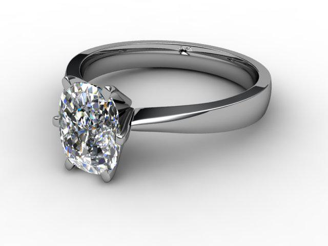 Certificated Cushion-Cut Diamond Solitaire Engagement Ring in 18ct. White Gold