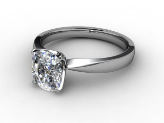 Certificated Cushion-Cut Diamond Solitaire Engagement Ring in 18ct. White Gold-05-0500-0008