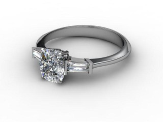 Certificated Cushion-Cut Diamond in 18ct. White Gold-05-0502-0009
