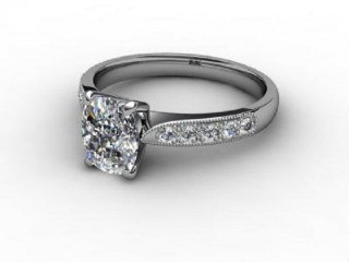 Certificated Cushion-Cut Diamond in 18ct. White Gold-05-0510-6160