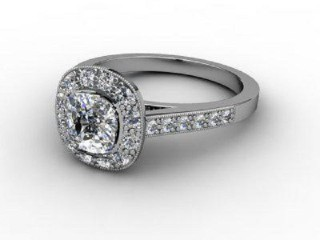 Certificated Cushion-Cut Diamond in 18ct. White Gold
