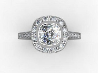 Certificated Cushion-Cut Diamond in 18ct. White Gold - 12