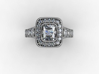 Certificated Cushion-Cut Diamond in 18ct. White Gold - 9