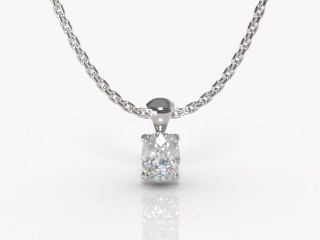 Certified Cushion-Cut Diamond Pendant-05-05913