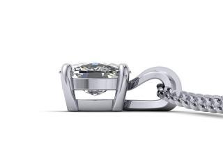 Certified Cushion-Cut Diamond Pendant - 3