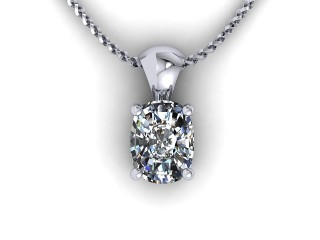 Certified Cushion-Cut Diamond Pendant - 9