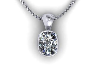 Certified Cushion-Cut Diamond Pendant - 9