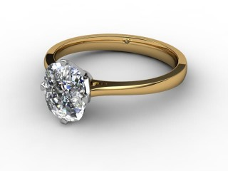 Certificated Cushion-Cut Diamond Solitaire Engagement Ring in 18ct. Gold-05-2800-0003