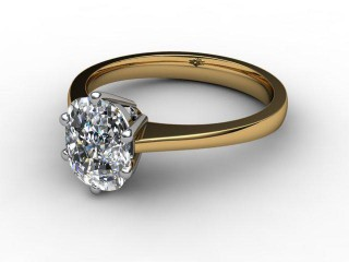 Certificated Cushion-Cut Diamond Solitaire Engagement Ring in 18ct. Gold-05-2800-0005