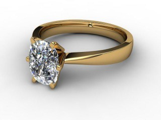 Certificated Cushion-Cut Diamond Solitaire Engagement Ring in 18ct. Gold-05-2800-0007