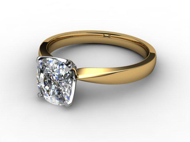 Certificated Cushion-Cut Diamond Solitaire Engagement Ring in 18ct. Gold