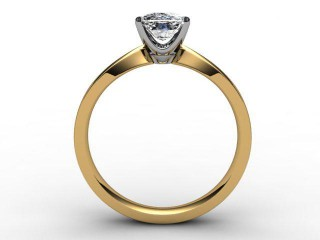 Certificated Cushion-Cut Diamond Solitaire Engagement Ring in 18ct. Gold - 3