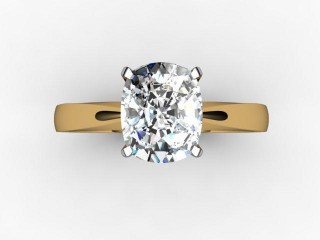 Certificated Cushion-Cut Diamond Solitaire Engagement Ring in 18ct. Gold - 9