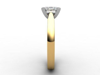 Certificated Cushion-Cut Diamond Solitaire Engagement Ring in 18ct. Gold - 6