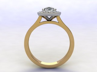 Certificated Cushion-Cut Diamond in 18ct. Gold - 3