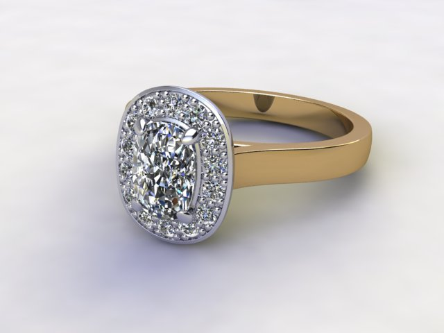 Certificated Cushion-Cut Diamond in 18ct. Gold