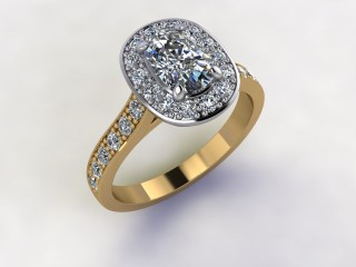 Certificated Cushion-Cut Diamond in 18ct. Gold - 12