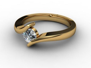 Certificated Cushion-Cut Diamond Solitaire Engagement Ring in 18ct. Gold-05-2808-1909