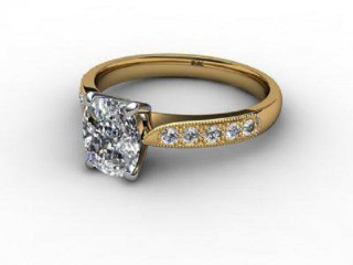 Certificated Cushion-Cut Diamond in 18ct. Gold-05-2810-6160