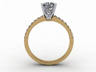 Certificated Cushion-Cut Diamond in 18ct. Gold - 3