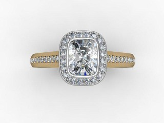 Certificated Cushion-Cut Diamond in 18ct. Gold - 9