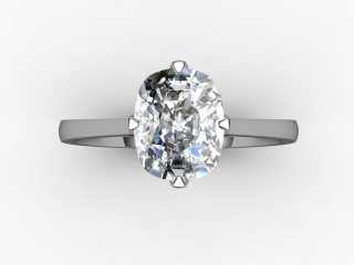 Certificated Cushion-Cut Diamond Solitaire Engagement Ring in Palladium - 9